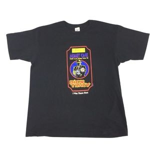 DICK TRACY T-shirt Black VTG by Hugger XL USA Made